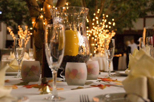 Light up the Table - 20 Wedding Place Setting Ideas to Bring to Your Reception - EverAfterGuide