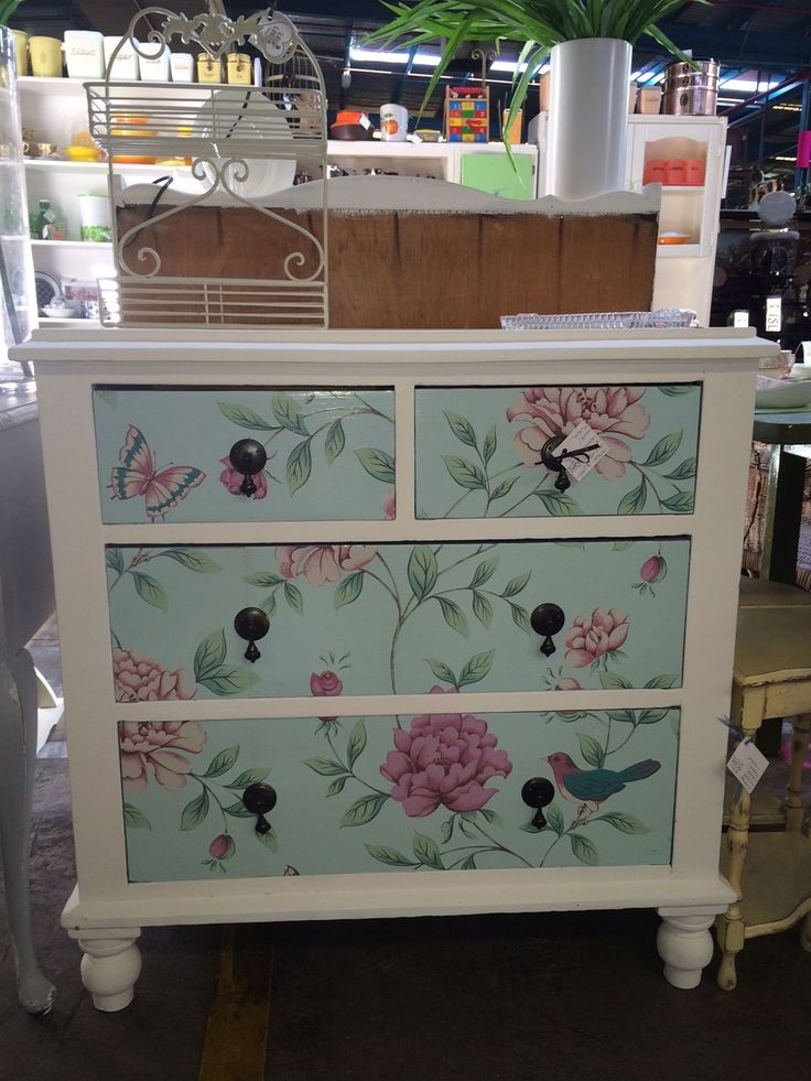 Tool Chest Dresser Makeover: 17 Best Decoupage Drawers Images On Pinterest