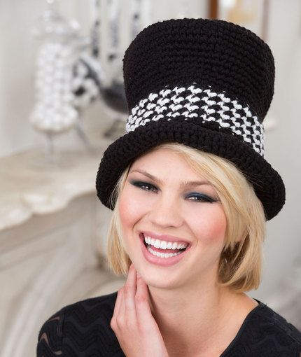 Top Hat Sophisticate Free Crochet Pattern from Red Heart Yarns