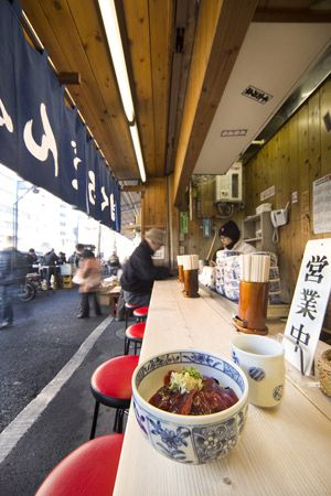 Tuna Rice Bowl, Tsukiji, Tokyo, Japan