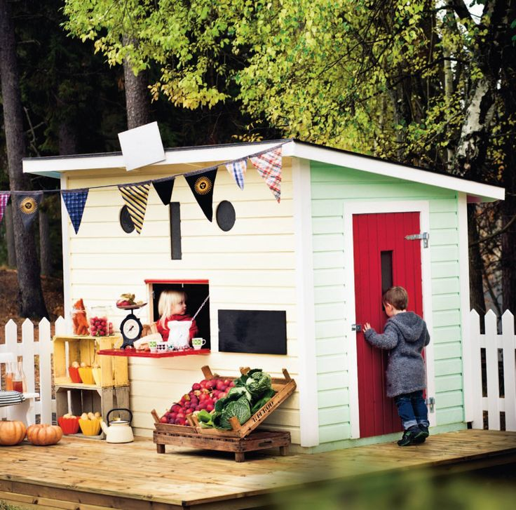 Oddbirds styling for www.jabo.se - A variety of holiday homes and garages. #playhouse #lekstuga #friggebod #garage