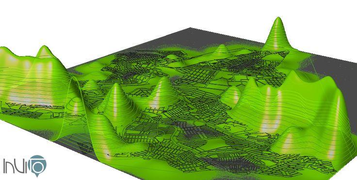InViTo - Pampulha suitability level for residential purpose.  #InViTo  #Grasshopper #BeloHorizonte #Brazil #UrbanPlanning #DataViz #Visualization #3Dmapping #mapping