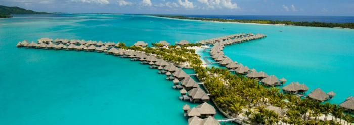 We all know about Bora Bora, but you may not know how magnificent The St. Regis is. Their over-water villas and suites put you right in the sea, complete with balconies and glass panels in the floor. It also has a private saltwater lagoon and fine dining nearby. If you have a loved one, this is the place to take him/her.