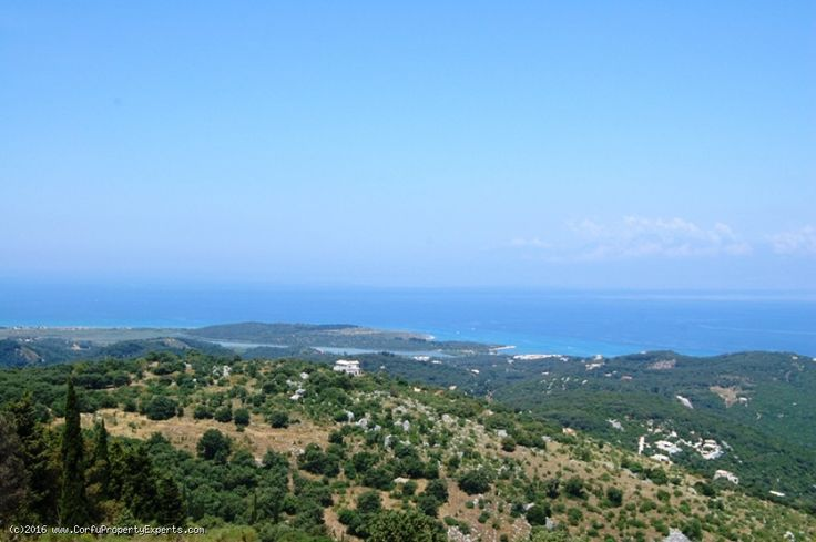 New listing. With sea views that don't get much better than this from this plot for sale in Loutses, north east Corfu.