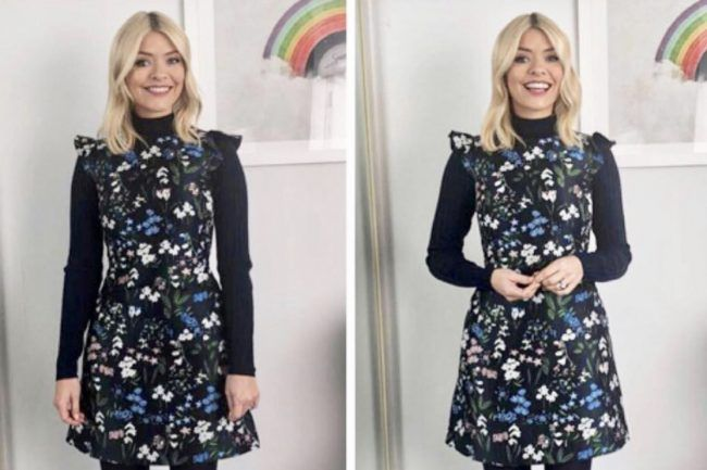 Holly Willoughby This Morning dress: Phillip Schofields co host dreams of spring as she wears floral Karen Millen dress