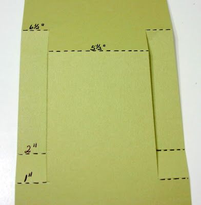 The Stampin' Schach: Center-Step card instructions...starting with a 5 1/2 X 11…