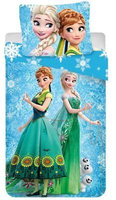JERRY FABRICS Povlečení Ledové Království sněhové vločky 140/200 cm 140x200cm, 70x90cm 100% bavlna