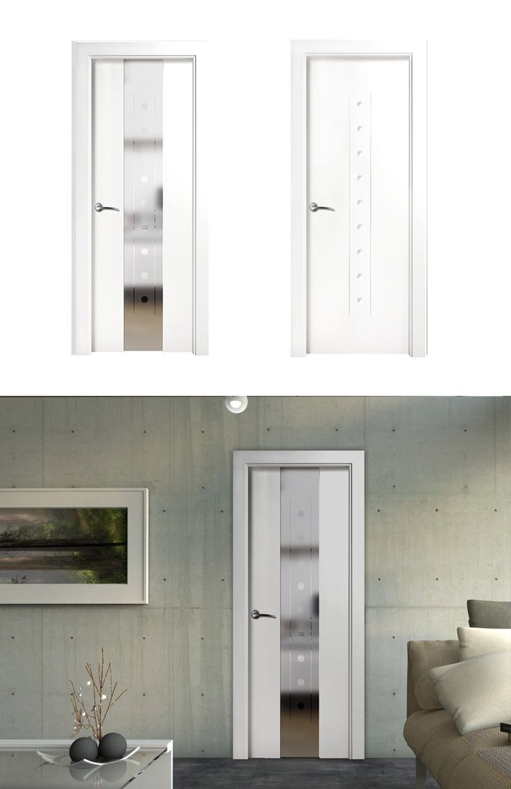 Puerta de interior blanca modelo sorolla de la serie for Puerta lacada blanca