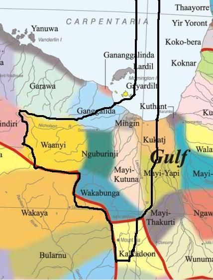 Wurung State based on Indigenous peoples' history and the flow of water.