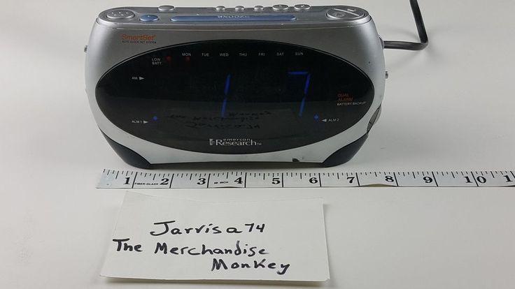 Emerson Research Smart Set Dual AM/FM Radio Alarm Clock CKS1862 #Emerson