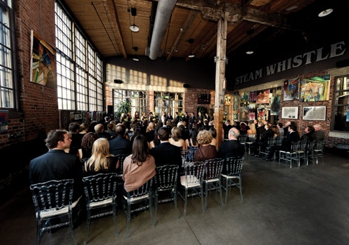Ceremony in the Gallery of Steam Whistle Brewery