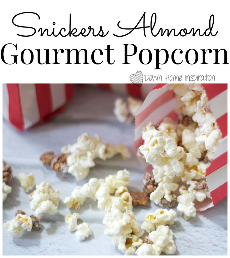 YUMMY!!!  Snickers Almond Gourmet Popcorn - Down Home Inspiration #WhenImHungry #CollectiveBias #ad