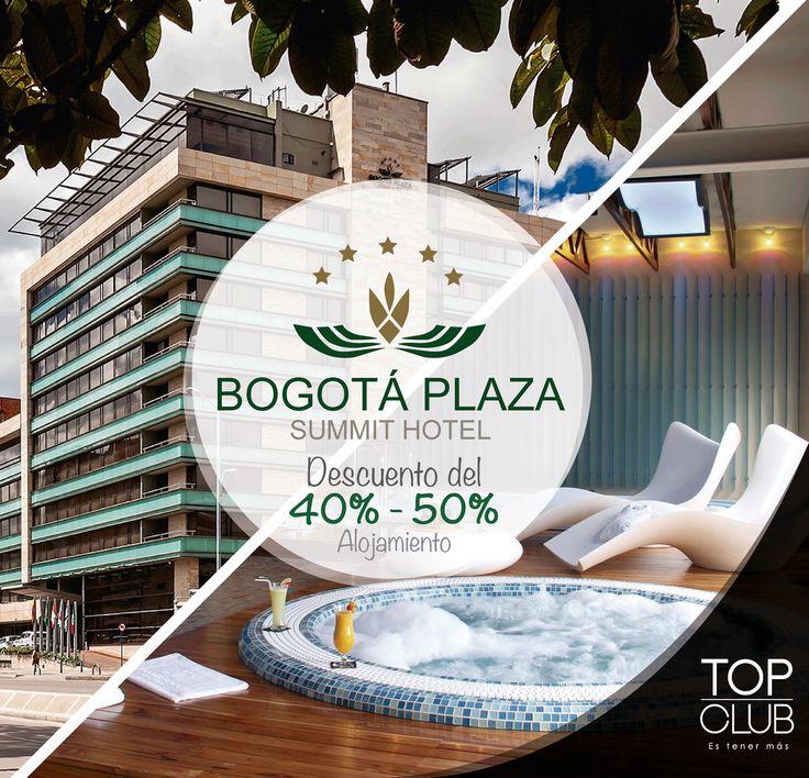 En una de las zonas más exclusivas del norte de Bogotá se encuentra Bogota Plaza Summit Hotel, disfrútalo con TopClub y recibe descuentos en alojamiento, restaurante, banquetes y bar. reservas@ccmtopclub.com - 01 8000 11 39 39