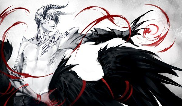Арты демон и ангел 5
