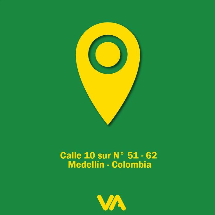 Visita nuestra sede, nos encontramos ubicados en: Calle 10 Sur No. 51 - 62  Medellín – Colombia