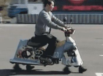 "mudwerks: "" gifsboom: "" Walking scooter. [video] "" omw """