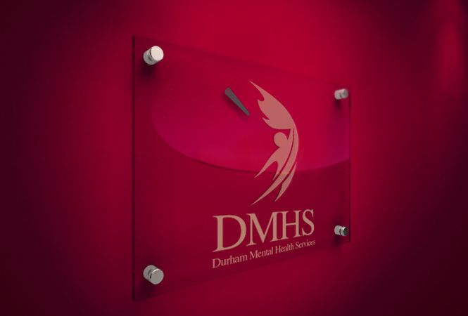 Reception Sign Design for Health Service by New Design Group