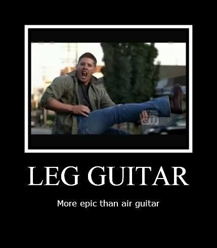 Leg guitar - a Jensen Ackles production of The Eye of the Tiger - Yellow Fever - Supernatural