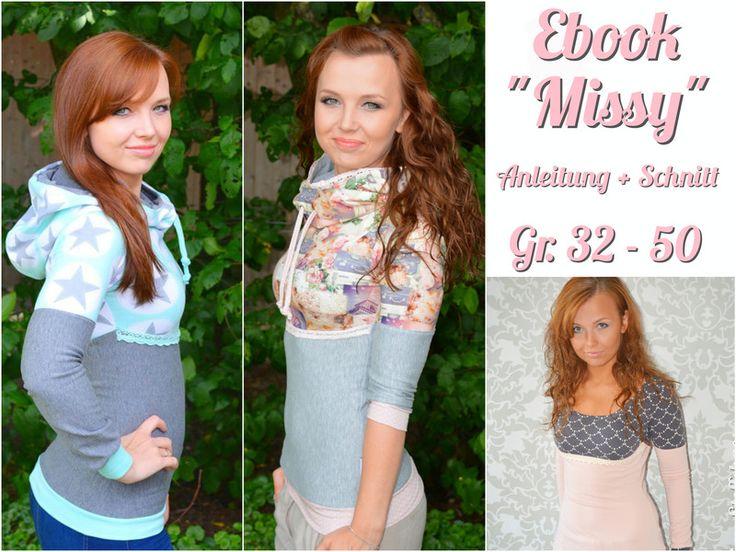 Ebook+Damen+Hoodie+Missy++von+Melian´s+kreatives+Stoffchaos++auf+DaWanda.com