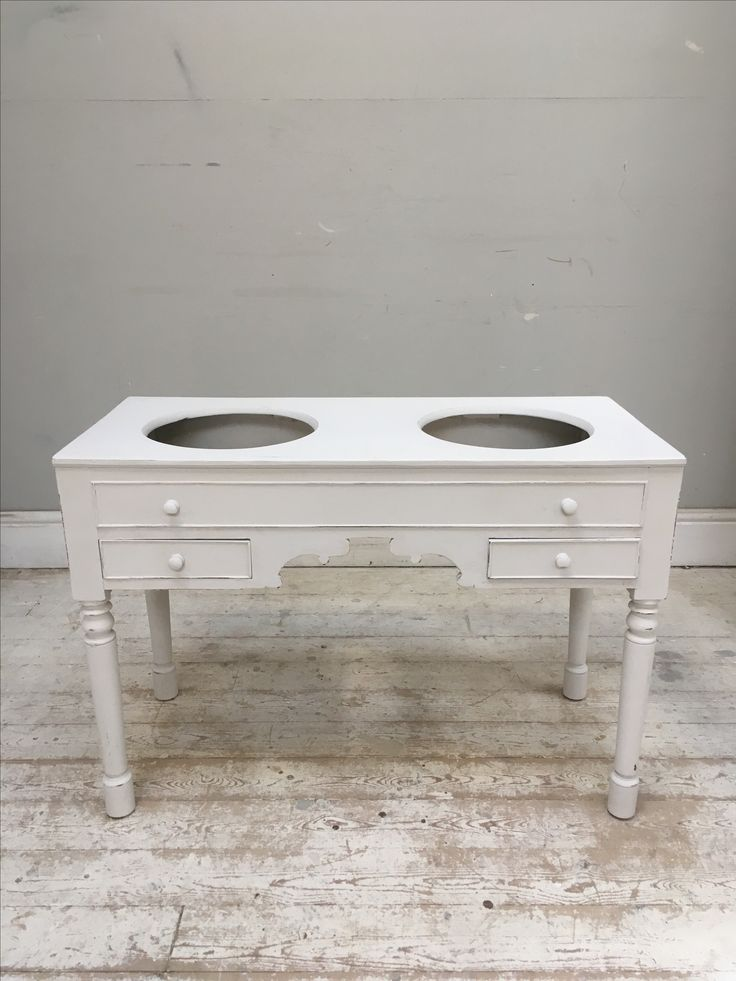 Photo Of Frenchfinds co uk antique French Vanity unit ready for fitting basins painted