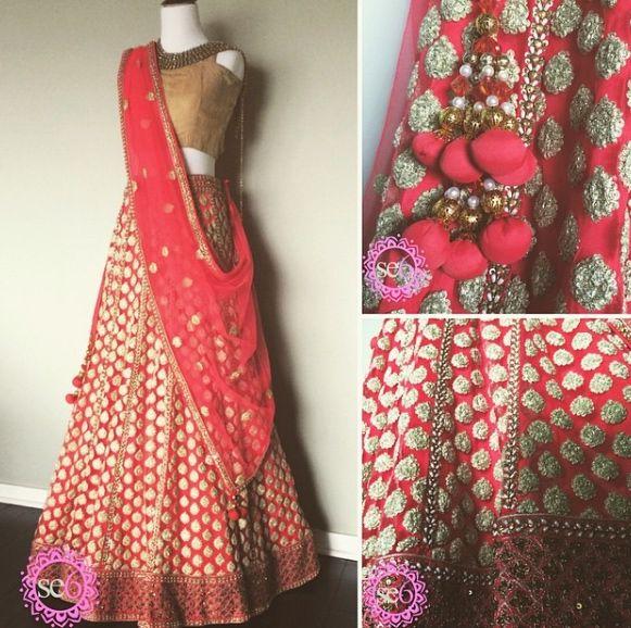Some detail shots on this Lehenga from Studio East6   #Lehenga #IndianFashion #IndianInspired #BollywoodInspired #StudioEast6   www.studioeast6.com