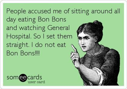 Bon Bons...and I haven't watched GH in a few years. :(