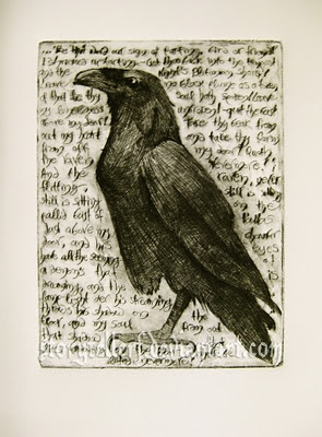 Nevermore drypoint by StorytellerF