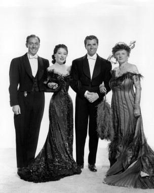 Michael Wilding,Greer Garson, Fernando Lamas,Marjorie Main. The Law And The Lady. (1951)