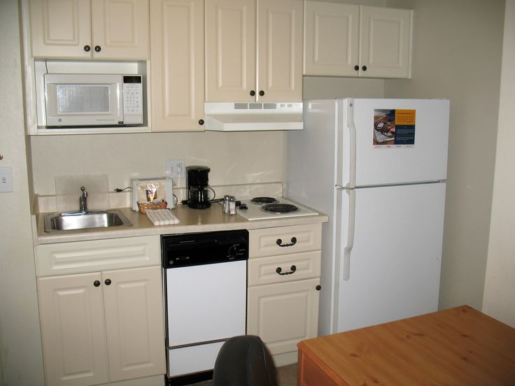 Tiny motel kitchenette. All I need.