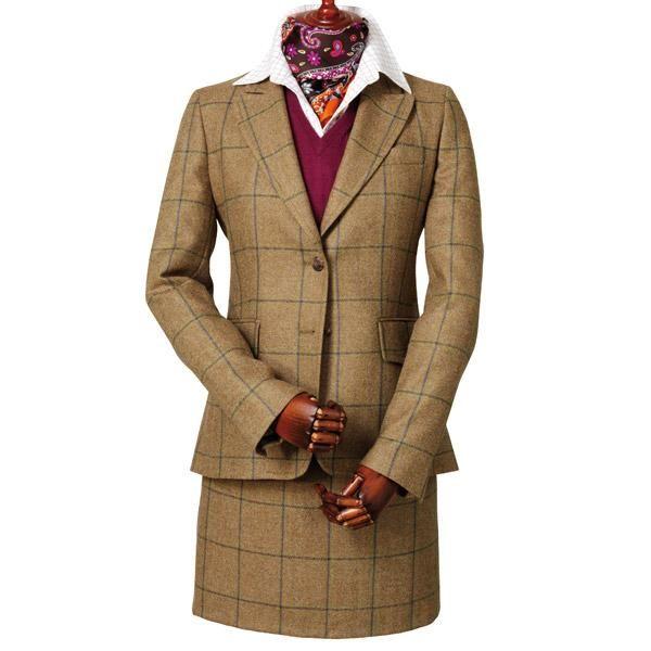 Laksen Eden tweed skirt and fitted jacket #laksen #tweedskirt #tweedjacket #countryclothing #countryfashion  http://www.ardmoor.co.uk/laksen-eden-ladies-dress-jacket-lak-eddj