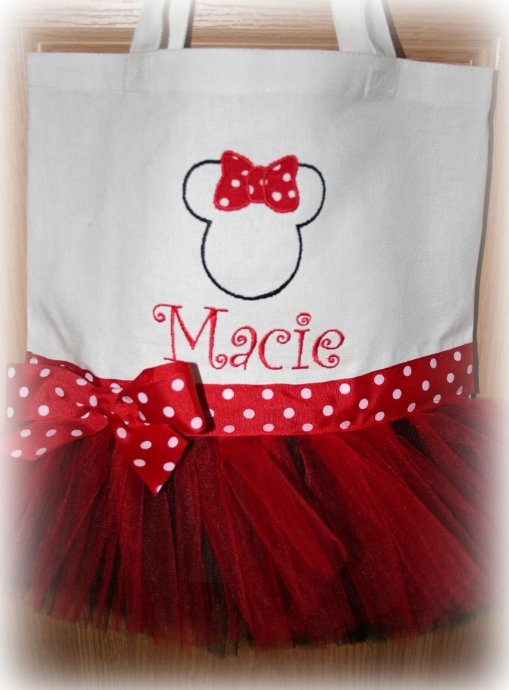 Girls Dance Bag. $27.00, via Etsy. haha this was meant to be ... Macie LOVES Mickey & Minnie!!