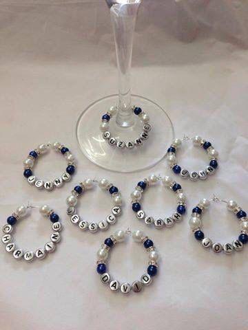 Charms in vetro di vino personalizzate Bomboniere di Joallroundjoy