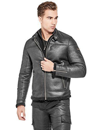 Guess Faux Leather Jacket Mens Wear 8cc3fda1588