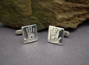 Hand/Foot Print Cufflinks a perfect Valentine's Day gift xxx