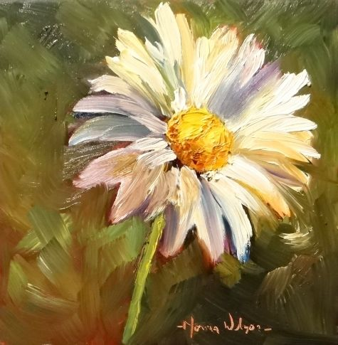 Daisy Delight Floral Still Life Painting Art, painting by artist Norma Wilson