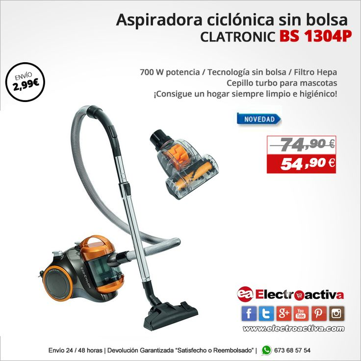 ¡Consigue un hogar siempre limpio e higiénico! Aspirador ciclónico para mascotas CALTRONIC BS 1304 P https://www.electroactiva.com/aspiradora-sin-bolsa-barata-clatronic-bs-1304-cepillo-turbo-mascotas.html  #Elmejorprecio #Aspirador #Mascotas #Hogar #Chollo #Electrodomestico #PymesUnidas