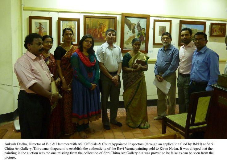 Ravi Varma 'Jatayu Vadha' at Shri Chitra Art Gallery - comparing it with one in Bid & Hammer catalogue