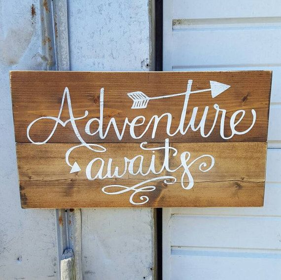 This rustic sign is made from reclaimed pine wood. It measures approx 20 x 11. The sign is stained, handpainted, and sealed. No two signs are