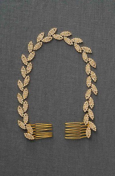 Gold Leaves Bridal Headband