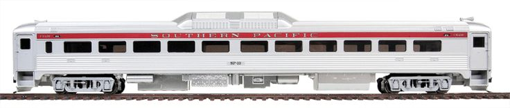 Walthers #920-35264 Budd RDC-1 Coach w/Plated Finish - DCC Friendly- Southern Pacific #10  * Now With Real Metal Finish * 4-Wheel Drive & 8-Wheel Electrical Pickup * 5-Pole Skew-Wound Motor * Flywheel Equipped * Authentically Contoured Radiator With Realistic Fan * RP-25 Metal Wheels * Proto MAX(TM) Metal Knuckle Couplers
