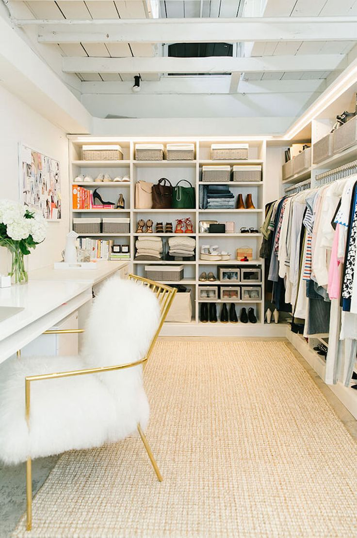 Closet organization ideas for home whether you have a big, walk-in or small space.