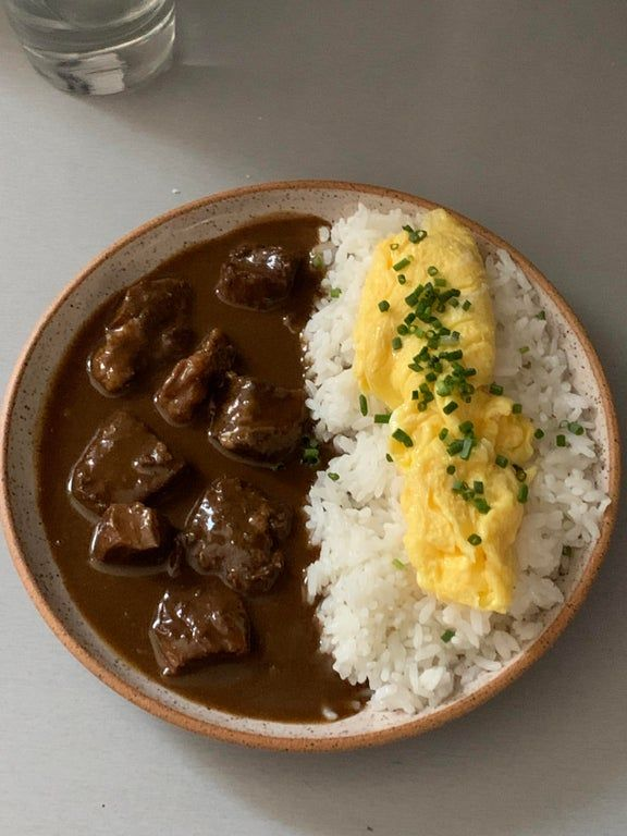 Homemade Japanese Beef Curry Rice With Eggs Food In 2020 Japanese Beef Beef Curry Curry Rice