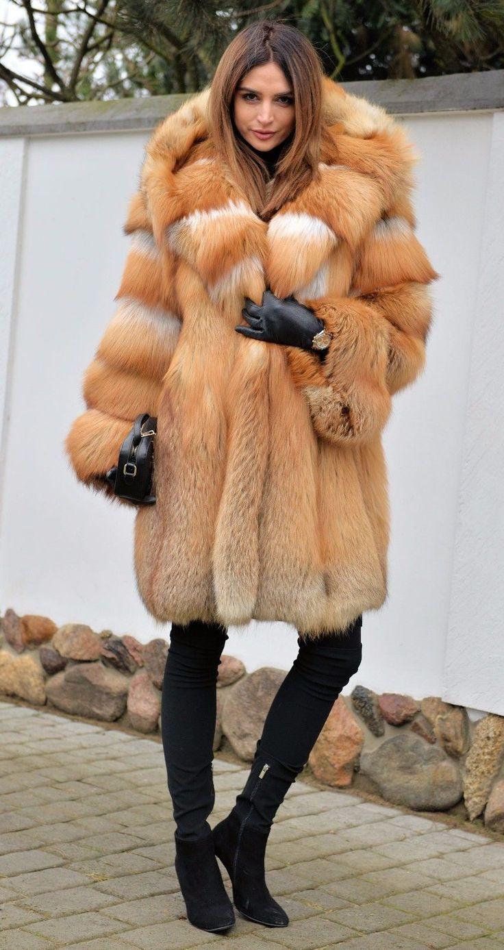 Womens leather gloves toronto - New 2017 Gold Fox Fur Coat Clas Chinchilla Sable Mink Lynx Silver Fire Vest Ebay