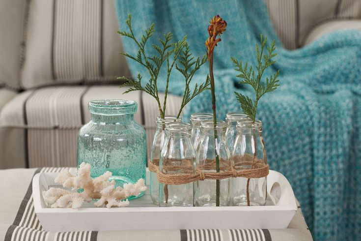 SET 6 GLASS MILK BOTTLES  - GLASS