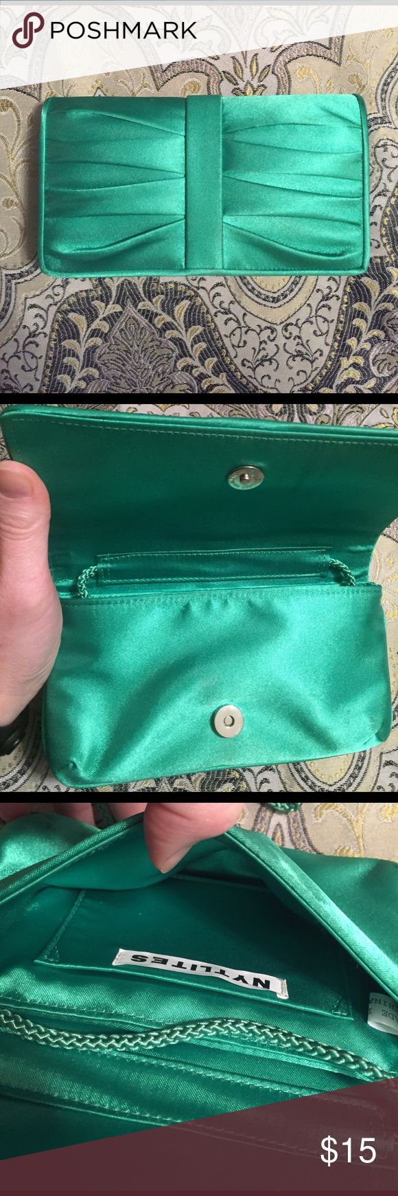 Kelly Green Clutch Kelly Green Clutch. Matches perfectly with the Calvin Klein dress in a separate listing. Bundle and save! Bags