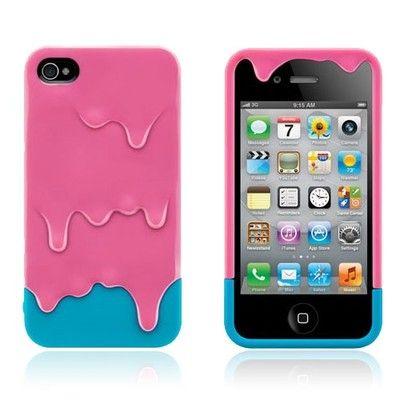 CUSTODIA COVER CON SUPPORTO PER APPLE IPHONE 4 e 4S GELATO ICE CREAM 3 D ROSA | eBay
