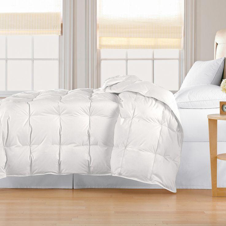 classic 240 thread count lightweight allseason white down comforter overstock