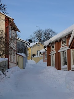 Porvoo, Finland   One of my favorite places ever. Walked these streets for a long time.