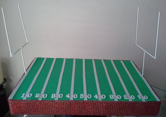 Football Field Cake Pop Display - Holder - Stand - Container - Centerpiece - Dessert Table Display