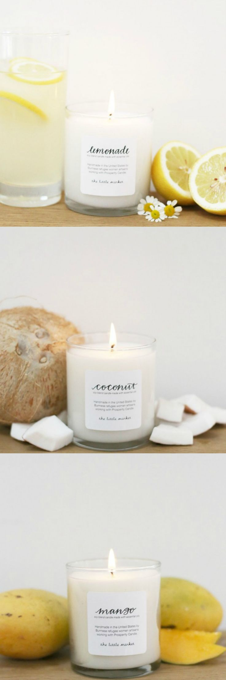 The Little Market summer candle collection
